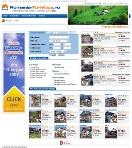 Romania-Turistica.ro asa cum era la 15 aug. 2007